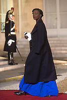 Former french Minister Rama Yade arrives to attend a dinner in honour of Senegal's President Macky Sall at the Elysee Palace in Paris, France December 20, 2016. # FRANCOIS HOLLANDE RECOIT MACKY SALL POUR LE DINER A L'ELYSEE