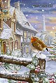 Marcello, CHRISTMAS LANDSCAPES, WEIHNACHTEN WINTERLANDSCHAFTEN, NAVIDAD PAISAJES DE INVIERNO, paintings+++++,ITMCXM1664,#XL# ,red robin