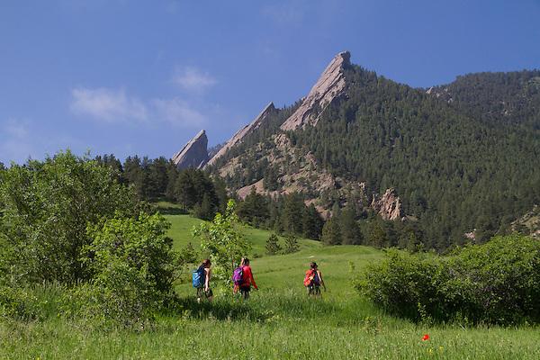 Chautauqua Park and Flatirons rock formation, Boulder, Colorado .  John leads hiking and photo tours throughout Colorado.