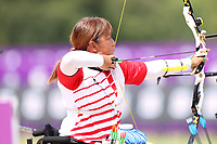 27th August 2021; Tokyo, Japan; Chika Shigesada (JPN),  Archery : <br /> Women's Individual Recurve Open Ranking Round <br /> during the Tokyo 2020 Paralympic Games at the Yumenoshima Park Archery Field in Tokyo, Japan.