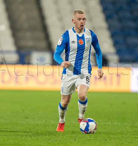 3rd November 2020; The John Smiths Stadium, Huddersfield, Yorkshire, England; English Football League Championship Football, Huddersfield Town versus Bristol City Lewis O'Brien of Huddersfield Townon the ball