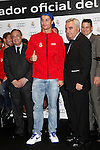 Real Madrid player Cristiano Ronaldo (c) and the President Florentino Perez participate and receive new Audi during the presentation of Real Madrid's new cars made by Audi at the Jarama racetrack on November 8, 2012 in Madrid, Spain.(ALTERPHOTOS/Harry S. Stamper)