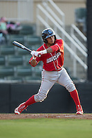 Grenny Cumana (12) of the Lakewood BlueClaws at bat against the Kannapolis Intimidators at Kannapolis Intimidators Stadium on May 10, 2016 in Kannapolis, North Carolina.  The BlueClaws defeated the Intimidators 5-3.  (Brian Westerholt/Four Seam Images)