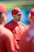 Philadelphia Phillies Christian Marrero during a Florida Instructional League game against the New York Yankees on October 12, 2018 at Spectrum Field in Clearwater, Florida.  (Mike Janes/Four Seam Images)