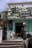 Coffee house on the Greek island of Crete