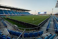 SAN JOSE, CA - SEPTEMBER 19: Earthquakes Stadium during a game between Portland Timbers and San Jose Earthquakes at Earthquakes Stadium on September 19, 2020 in San Jose, California.