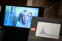 United States Senator Patty Murray (Democrat of Washington), ranking member, US Senate Health, Education, Labor and Pensions Committee, speaks via teleconference during a hearing in Washington, D.C., U.S., on Tuesday, June 30, 2020. Top federal health officials are expected to discuss efforts to get back to work and school during the coronavirus pandemic.<br /> Credit: Al Drago/CNP/AdMedia