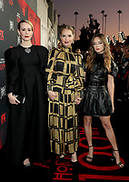 "LOS ANGELES - OCTOBER 26: (L-R) Sarah Paulson, Leslie Grossman and Billie Lourd attend the red carpet event to celebrate 100 episodes of FX's ""American Horror Story"" at Hollywood Forever Cemetery on October 26, 2019 in Los Angeles, California. (Photo by John Salangsang/FX/PictureGroup)"