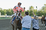 29-AUG-10: Just Jenda, Terry Thompson up, wins the Molly Pitcher Stakes.