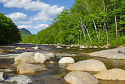 East Branch of the Pemigewasset River in Lincoln, New Hampshire during the spring months.