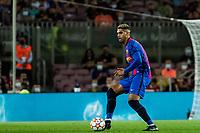 14th September 2021: Nou Camp, Barcelona, Spain: ECL Champions League football, FC Barcelona versus Bayern Munich: Araujo  of Barca comes forward on the ball