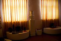 REPUBLIC OF MOLDOVA, Gagauzia, Bechalma, 2009/07/1..The museum of Bechalma dedicated to Gagauz culture dates from the Soviet era. Gagauz culture seems relegated to a secondary role behind the exploits of the Red Army and the building of socialism..© Bruno Cogez / Est&Ost Photography..REPUBLIQUE MOLDAVE, Gagaouzie, Bechalma, 1/07/2009..Le musée de Bechalma dédié à la culture gagaouze date de l'époque soviétique. La culture gagaouze semble reléguée au deuxième plan derrière les exploits de l'armée Rouge et l'édification du socialisme..© Bruno Cogez / Est&Ost Photography