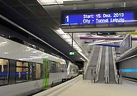 01.10.2013 erste Regionalbahn testet Citytunnel @ Leipzig