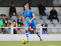 Heleen Jaques (4) of AA Gent with the ball during a female soccer game between Oud Heverlee Leuven and AA Gent Ladies on the 9 th matchday of play off 1 in the 2020 - 2021 season of Belgian Womens Super League , saturday 22 nd of May 2021  in Heverlee , Belgium . PHOTO SPORTPIX.BE   SPP   SEVIL OKTEM