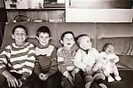 Dr Flynn's children - February 1986. Photograph by Liam McGrath