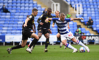 3rd October 2020; Madejski Stadium, Reading, Berkshire, England; English Football League Championship Football, Reading versus Watford; George Puscas of Reading turns, shoots and scores in 41st minute 1-0