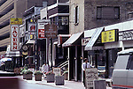 Shops Toronto architecture buildings downtown Ontario Canada<br />