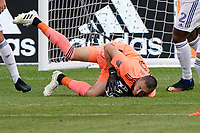 CHICAGO, UNITED STATES - AUGUST 25: Przemyslaw Tyton #22 of FC Cincinnati makes a save during a game between FC Cincinnati and Chicago Fire at Soldier Field on August 25, 2020 in Chicago, Illinois.