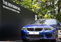 BMW M5 is a the hole in one prize on hole 14 during Practice Day at BMW PGA Championship Wentworth Golf at Wentworth Drive, Virginia Water, England on 22 May 2018. Photo by Andy Rowland.