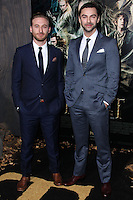 """HOLLYWOOD, CA - DECEMBER 02: Dean O'Gorman, Aiden Turner arriving at the Los Angeles Premiere Of Warner Bros' """"The Hobbit: The Desolation Of Smaug"""" held at Dolby Theatre on December 2, 2013 in Hollywood, California. (Photo by Xavier Collin/Celebrity Monitor)"""