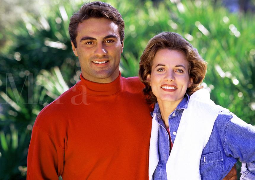 Portrait of a smiling couple.