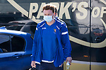St Johnstone v Clyde…17.04.21   McDiarmid Park   Scottish Cup<br />James Brown arrives ahead of todays Scottish Cup game against Clyde<br />Picture by Graeme Hart.<br />Copyright Perthshire Picture Agency<br />Tel: 01738 623350  Mobile: 07990 594431