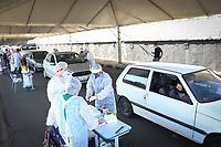 Jaguariuna (SP), 15/04/2021 - Covid-SP - A cidade de Jaguariúna, interior de São Paulo, por meio da Secretaria Municipal de Saúde, realiza uma ação de testagem em massa da população para a Covid-19. A ação acontece nesta quinta-feira (15), no Parque Santa Maria e no Centro Cultural. Qualquer pessoa poderá ser testada, desde que seja morador de Jaguariúna.
