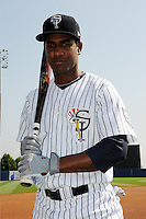 Staten Island Yankees outfielder Ravel Santana (11) during game against the Auburn Doubledays at Richmond County Bank Ballpark at St.George on August 2, 2012 in Staten Island, NY.  Auburn defeated Staten Island 11-3.  Tomasso DeRosa/Four Seam Images