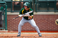 Baylor Bears outfielder Adam Toth #15 prepares to bunt during the NCAA Regional baseball game against Oral Roberts University on June 3, 2012 at Baylor Ball Park in Waco, Texas. Baylor defeated Oral Roberts 5-2. (Andrew Woolley/Four Seam Images)