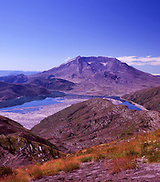 Mt. St. Helens and Spirit Lake from Mt. Margaret Backcountry, Mt. St. Helens National Volcanic Monument, Washington, US