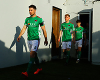 Gearoid Morrissey, Alec Byrne and Cian Bargary of Cork City before the game.<br /> <br /> Cobh Ramblers v Cork City, SSE Airtricity League Division 1, 28/5/21, St. Colman's Park, Cobh.<br /> <br /> Copyright Steve Alfred 2021.