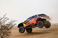 31st December 2020, Jeddah, Saudi Arabian. The vehicle and river shakedown for the 2021 Dakar Rally in Jeddah;   310 Al Qassimi Sheikh Khalid are, Panseri Xavier fra, Peugeot, PH Abu Dhabi Racing, Auto, action during the shakedown of the Dakar 2021 in Jeddah