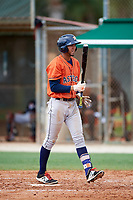 GCL Astros Carlos Machado (44) during a game against the GCL Marlins on July 22, 2017 at Roger Dean Stadium Complex in Jupiter, Florida.  GCL Astros defeated the GCL Marlins 5-1, the game was called in the seventh inning due to rain.  (Mike Janes/Four Seam Images)