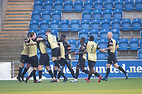 Marine AFC celebrate the opening goal scored by Anthony Miley, Marine AFC during Colchester United vs Marine, Emirates FA Cup Football at the JobServe Community Stadium on 7th November 2020