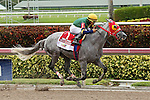 HALLANDALE BEACH, FL -JULY 02:  #1 Delta Bluesman (FL) with jockey Emisael Jaramillo on board wins the Smile Sprint Stakes G2, a Breeders' Cup Win and You're In race at Gulfstream Park on July 02, 2016 in Hallandale Beach, Florida. (Photo by Liz Lamont/Eclipse Sportswire/Getty Images)