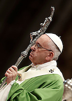 Pope Francis celebrates a Jubilee Mass for homeless people in Saint Peter's Basilica at the Vatican, November 13, 2016.<br /> UPDATE IMAGES PRESS/Isabella Bonotto<br /> <br /> STRICTLY ONLY FOR EDITORIAL USE