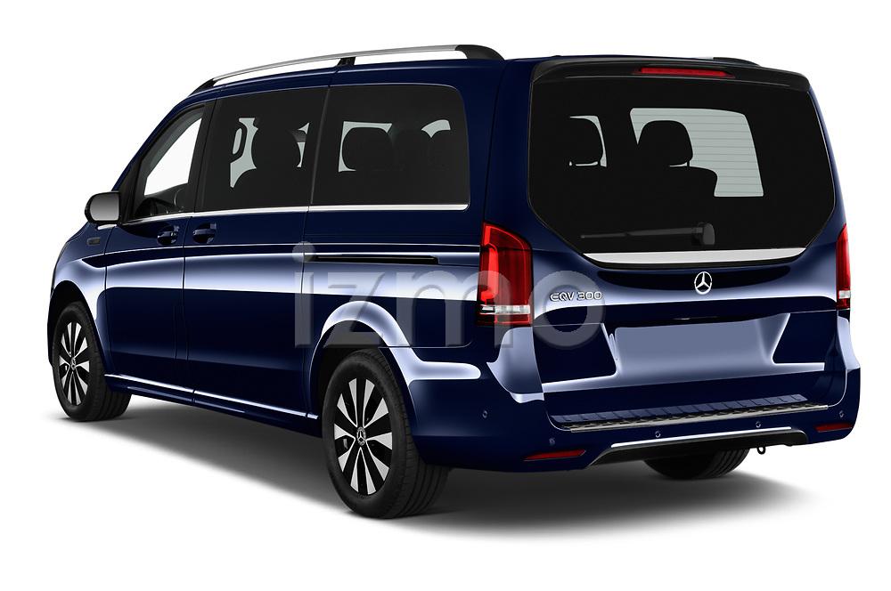 Car pictures of rear three quarter view of 2021 Mercedes Benz EQV - 5 Door Passanger Van Angular Rear
