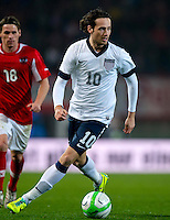 VIENNA, Austria - November 19, 2013: Mix Diskerud during a 0-1 loss to host Austria during the international friendly match between Austria and the USA at Ernst-Happel-Stadium.