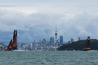 16th March 2021; Waitemata Harbour, Auckland, New Zealand;  Emirates Team New Zealand v Luna Rossa Prada Pirelli. Race 9, Day 6 of the America's Cup presented by Prada.