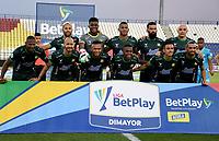 MONTERIA - COLOMBIA, 24-01-2021: Jugadores de Atletico Bucaramanga posan para una foto, antes de partido entre Jaguares de Cordoba F. C. y Atletico Bucaramanga de la fecha 2 por la Liga BetPlay DIMAYOR I 2021, en el estadio Jaraguay de Monteria de la ciudad de Monteria. / Players of Atletico Bucaramanga pose for a photo, prior a match between Jaguares de Cordoba F.C., and Atletico Bucaramanga, of the 2nd date for the BetPlay DIMAYOR I 2021 League at Jaraguay de Monteria Stadium in Monteria city. Photo: VizzorImage / Andres Lopez / Cont.