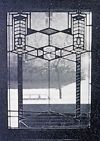 Frank Lloyd Wright:  Window detail of Robie House, Oak Park IL., 1909. (Photo Mar. 1988)