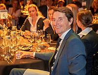 The Hague, The Netherlands, Februari 5, 2020,    Penthouse, FedCup  Netherlands -  Balarus, Official Dinner,  Dutch Captain Paul Haarhuis enjoying himself<br /> Photo: Tennisimages/Henk Koster