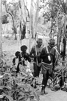 Tribal Aboriginal hunting party Arnhem Land Northern Territory, Australia