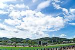 KITAKYUSHU,JAPAN-JUL 18: Horses run under summer sky at Kokura Racecourse on July 18,2021 in Kitakyushu,Fukuoka,Japan. Kaz Ishida/Eclipse Sportswire/CSM