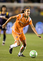 Sky Blue's Keeley Downing moves with the ball. The LA Sol defeated Sky Blue FC 1-0 at Home Depot Center stadium in Carson, California on Friday May 15, 2009.   .