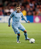 Bobby Convey (11) of Sporting KC brings the ball up the field during the game at RFK Stadium in Washington, DC.  Sporting KC defeated D.C. United, 1-0.
