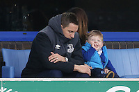 Phil Jagielka looks dejected as he sits in the stands during the Barclays Premier League match between Everton and Swansea City played at Goodison Park, Liverpool