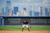 Lowell Spinners second baseman Grant Williams (11) during a game against the Staten Island Yankees on August 22, 2018 at Richmond County Bank Ballpark in Staten Island, New York.  Staten Island defeated Lowell 10-4.  (Mike Janes/Four Seam Images)