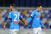 Matteo Politano of SSC Napoli and Hirving Lozano during the Italy Cup football match between SSC Napoli and Empoli FC at stadio Diego Armando Maradona in Napoli (Italy), January 13, 2021. <br /> Photo Cesare Purini / Insidefoto