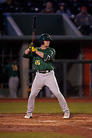 Beloit Snappers Anthony Churlin (26) at bat during a Midwest League game against the Lansing Lugnuts at Cooley Law School Stadium on May 4, 2019 in Lansing, Michigan. Beloit defeated Lansing 2-1. (Zachary Lucy/Four Seam Images)